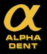 Werbebanner von Alpha Dent